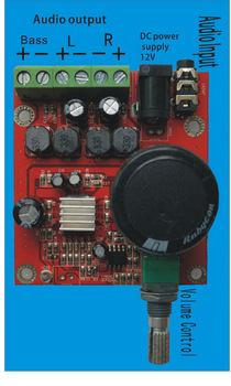 Super mini fever 2.1 digital amplifier board (DC12V power)