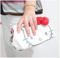 Hello kitty R/W Cosmetic Pouch Case Purse Wallet Hellokitty COSMETIC BAG MAKEUP PENCIL CASE PURSE Free shipping. AB102 coolboy