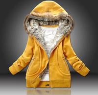 2012 hot selling new arriveing big size  women's hooded overcoat  women's winter coat jacket  outwear M-XXL short jacket