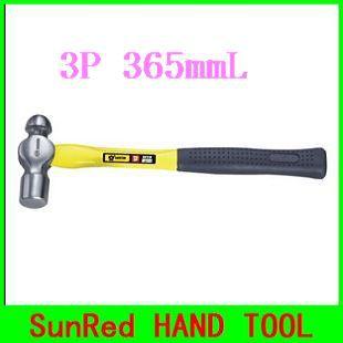 SunRed BESTIR taiwn made 3P 365mmL glass fibre handle ball hammer tools hands construction,NO.02116 wholesale freeshipping(China (Mainland))