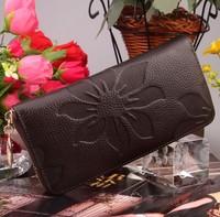 High Quality Women's Wallets 100% Genuine Leather Clutch Bags Purse Fashion Ladies Handbags Free Shipping