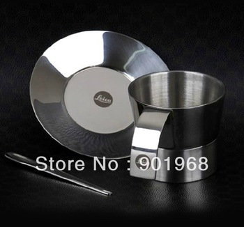 2pcs/lot Super thick stainless steel coffe cup set-coffee ware