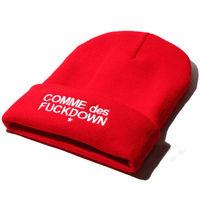 Fashion Hip Hop Beanies High Quality Warm Winter Cap Fuckdown Knitted Cap Men's Skullies Hat Free Shipping
