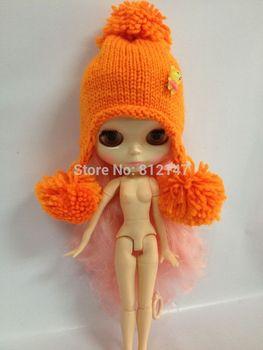 Doll hat  suitable for blythe  orange