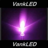 1000pcs New 3mm Round Ultra Bright Pink LED Lamp