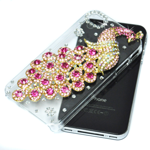 Чехол для для мобильных телефонов OEM 3D Bling iphone 4 4S  Crystal Peacock Case Cover For iphone 4 4S butterfly bling diamond case