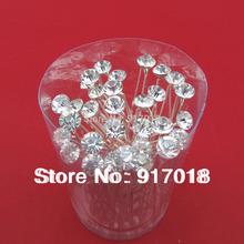 Wholesale 20pcs Lot Clear 6mm Crystal Rhinestone Wedding Bridal Hair Accessories Hair Pin Clips Grips Women