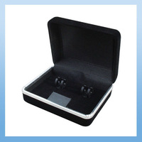 Free shipping (72pcs/lot) velvet black Gift Box CB-207 for 1 pair Cufflinks and Tie Clip