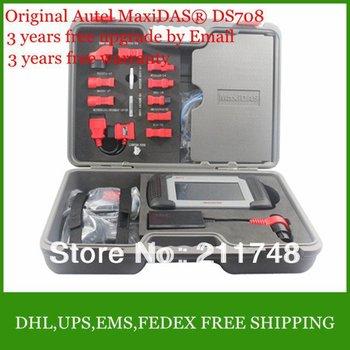 2014 Top-Rated Professional comprehensive Car diagnostic tool DS 708 scanner Original Autel MaxiDAS DS708 update FREE Internet
