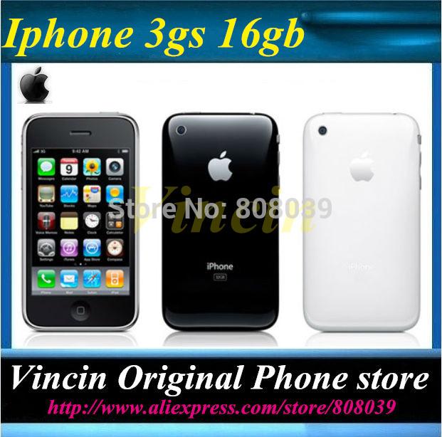 1 Year warranty Unlocked original Iphone Apple 3GS 16GB mobile phone GPS 3.15 Mp(China (Mainland))