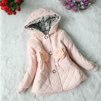 Wholesale 3 pcs/lot new children's clothing, girls cotton and cashmere cardigan coat (for 3-6 years)free shipping