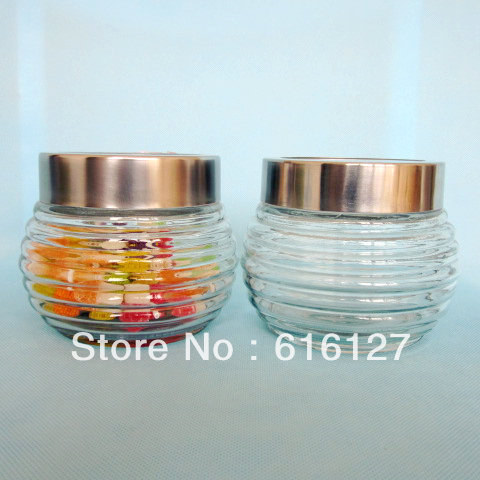 Free shipping! Kitchen condiment container,glass liner of stainless steel skin durable cruet(China (Mainland))