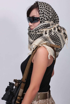 MOQ 1pc! 5 colors Special Forces SOCOM scarf,ARAB muslim hijab Shemagh Green Keffiyeh Head shawl