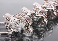 10 Pieces/Lot  Mini Motorcycle Shape Men's Promotional Key Chain Gift  2012 Creative Motorbike Gift Key Rings Free Shipping
