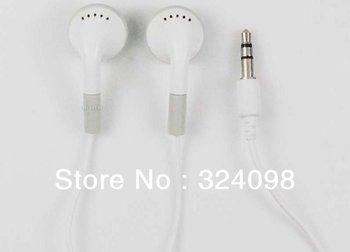 50pcs/lot Earphone for IPod IPhone, MP3 MP4 Earphone 3.5mm In-Ear Earphone Headphone