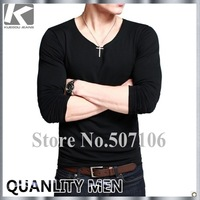 Free Shipping, 2012 NEW ARRIVAL, Brand Men's T-shirts  long sleeve O-neck Style, Fashion Shirts, Gunrantee Top Quality