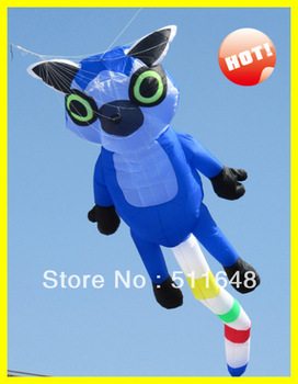 Free Shipping 16*4m long tail lemur kite,soft inflatable show kite