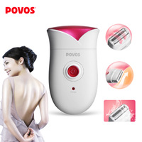 Free shipping POVOS PS1088 Rechargeable Single Blade Reciprocating Lady's Body Hair Electric Shaver Razor w/ US Plug