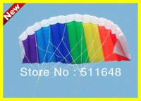 Free Shipping Real Sample Sport Multicolor Parafoil Rainbow Flying Power Kites