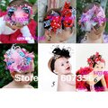 5-6inch babygirls&#39; hair bows with Hairband infant hair clips infant headband BABY Accessories