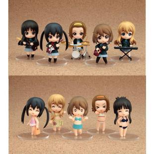 Hot sale 12pcs/set 65MM Anime K-ON PVC figure Toy Hirasawa Yui Akiyama Mio With Musical Instruments