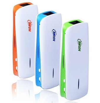 Hame a1 3 in 1 3G Wireless Router + Mobile power supply ,MINI Wireless 3G WIFI Router