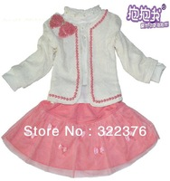 Children's skirt detonation of Japan and South Korea version of children's wear three-piece suit children put slip on wholesale