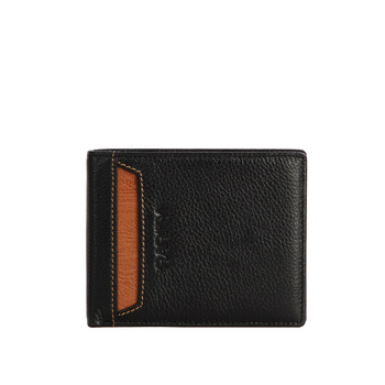 2013 fashion new Brand Rarity 100% Genuine Leather  Wallet for men purse Money Clip Black with free gift box WRC0016