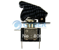 10pcs/Lot 12V 20A Car Auto Cover Blue LED Carbon Fiber SPST Toggle Switch Control On/Off New Free Shipping TK0173