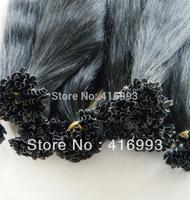 """18"""" 20"""" 22"""" 1b#  natural black Keratin Nail U tip PreBonded Hair Extensions 100% Human  Indian Remy Hair 1g/s 100gram/pack"""