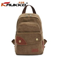 KAUKKO FJ75 Women small backpack 100% cotton canvas female chest pack student school bag casual fashion retail and wholesale