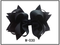 4.5 Inch Hair Bow Clips with Ring U Choose From 42 Colors Hair Accessories  For Girl Baby free shipping