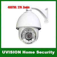 480TVL CCTV 27X Zoom IR Day&amp;amp;Night PTZ Camera SONY EFFIO CCD Built in Heater Fan 100M IR Distance With RS-485 DHL free shipping