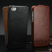 Luxury leather case for IPhone5s 5g 4g 4s Original Faddist ultrathin crazy horse flip case for iphone 4g free touch pen as gift