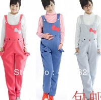 Free Shipping 2013 Winter Plus SIze Maternity Clothing Pants Jumpsuits And Rompers For Pregnant Women Hello Kitty Maternity Wear