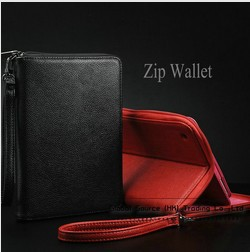 Luxury zip wallet case for ipad mini new arrival leather cover women fashion bags for ipad mini  luxury 2013 new arrival