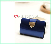Hot selling Genuine leather ID credit card holder wallet purse free shipping retail and wholesale