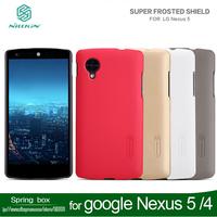 With Screen protector Nillkin Super Shield Hard Back Case For google Nexus 5 /nexus 4 LG E960  free shipping