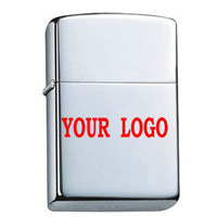 Free laser LOGO custom-- customized Oil lighter silver cool metal lighter,pocket classic smooth mirror cigarette lighters