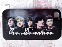 1D One Direction Group Image Plastic Skin Back Case Cover Protector Guard for Apple iPhone 4 4S free shipping