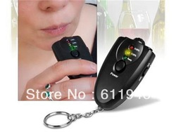 Free shipping dropshipping 10pcs/lot Digital Alcohol Detector breath tester Alcohol Tester for Driving Safety With Retail Box(China (Mainland))