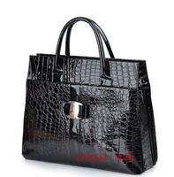 New Fashion Snake Skin Pattern patent PU Women's Tote Shoulder Bags Handbag, designers brand purse for woman, lady bags,T0606