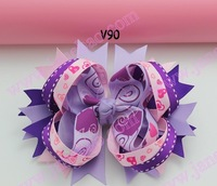 free shipping 145 pcs fashion Valantine's Day hair bows funky boutique hair bows girl hair bow clips