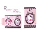 Hello kitty Flip PU Leather Case Cartoon Wallet case with ID Card Holder For Samsung Galaxy Note II 2 N710 Free shipping