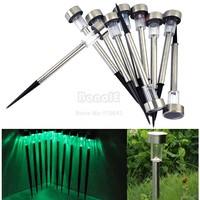 Hot 20Pcs/Lot Stainless Steel Solar Energy Outdoor Lawn Light, Solar Lighting, Solar Garden Lamp Green Free Shipping 6870