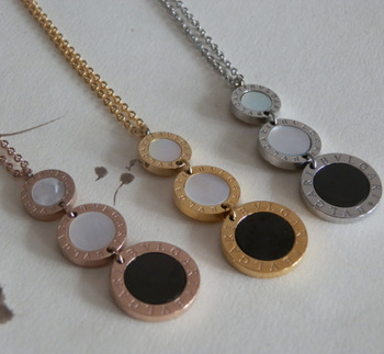 Free shipping!  Rose gold plated/platinum plated/18k gold plated Titanium steel Necklace factory price Wholesale  SP557