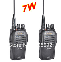 Free shipping (2PCS/Lot) 7W long range walkie talkie TC-666