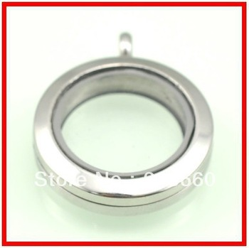 316l stainless steel pendant necklace glass lockets