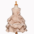 Hot sale~!2013 New Style Flower girl CHAMPAGNE WEDDING FORMAL PICK UP FLOWER GIRL DRESS 6M 9M 12M 18M 2 4 6 8 10 12
