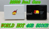 DH 14inch Best-selling notebook laptop Intel Atom D2500 1.86GHz Dual-Core win7 OS 2GB  1GB 4GB 160GB 25GB 320GB  500GB